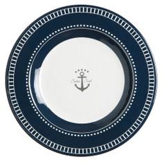 "Marine Business Melamine Round Dessert Plate - SAILOR SOUL - 7"" Set of 6 [14003C]"