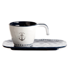 Marine Business Melamine Espresso Cup  Plate Set - SAILOR SOUL - Set of 6 [14006C]