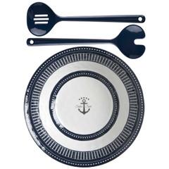 Marine Business Melamine Salad Bowl  Servers - SAILOR SOUL [14008]