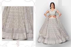 Grey color Soft Net Fabric Heavily Embroidered Lehenga Choli