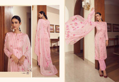 Pink color Cambric Cotton Fabric Suit