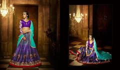 Purple color Soft Silk Fabric Lehenga Choli