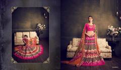 Black and Hot Pink color Soft Silk Fabric Lehenga Choli