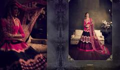 Black and Pink color Soft Silk Fabric Lehenga Choli
