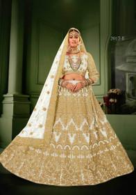 White color Net Fabric Heavily Embroidered Lehenga Choli