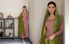 Pink color Silk Fabric Suit