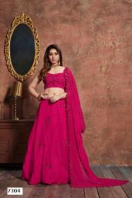 Magenta color Georgette Fabric Lehenga Choli