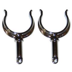 Perko Ribbed Type Rowlock Horns - Chrome Plated Zinc - Pair [1262DP0CHR]