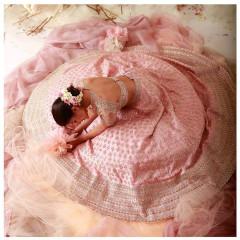 Pink color Silk Fabric Lehenga Choli