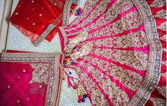 Powder Pink color Silk Fabric Lehenga Choli