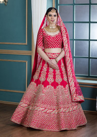 Red color Silk Fabric Lehenga Choli