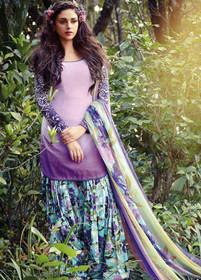 Light Purple color Pure Cotton Fabric Suit