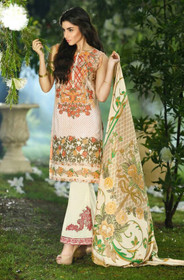 Cream color Pure Cotton Fabric Suit