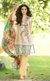 Beige color Pure Cotton Fabric Suit