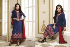 Royal Blue color Pure Cotton Fabric Suit