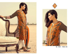 Light Chocolate and Cream color Pure Cotton Fabric Printed Suit