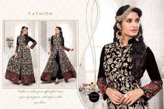 Black color Net Fabric Indowestern style Suit