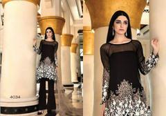 Black color Georgette Fabric Suit
