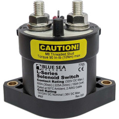 Blue Sea 7765 L-Series Solenoid Switch - 50A - 12\/24V DC [7765]