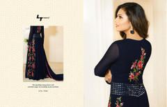 Royal Blue color Full Sleeves Floor Length Georgette Fabric Anarkali style Suit