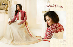 White color Full Sleeves Floor Length Georgette Fabric Anarkali style Suit