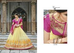Lemon color Net Fabric Lehenga Choli