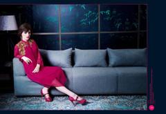 Magenta color Georgette Fabric Kurti