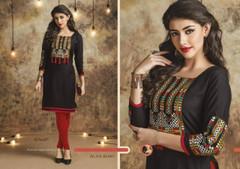 Black color Cotton Fabric Kurti