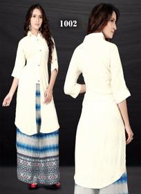 Cream color Cotton Fabric Kurti