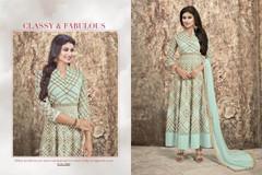 Light Blue color Georgette Fabric Full Sleeves Floor Length Anarkali style Suit