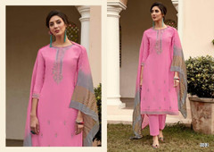 Pink color Muslin Fabric Suit
