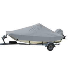 Carver Sun-DURA Styled-to-Fit Boat Cover f\/23.5 Bay Style Center Console Fishing Boats - Grey [71023S-11]