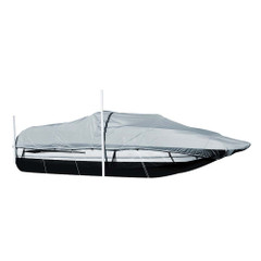 Carver Sun-DURA Styled-to-Fit Boat Cover f\/20.5 Sterndrive Deck Boats w\/Walk-Thru Windshield - Grey [95120S-11]