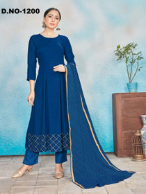 Royal Blue color Top and Bottom