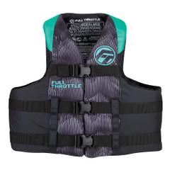 Full Throttle Adult Nylon Life Jacket - 2XL\/4XL - Aqua\/Black [112200-505-080-22]