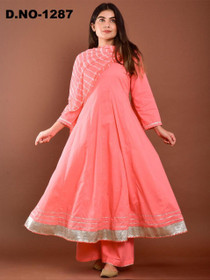 Pink color Rayon Fabric Top and Bottom Suit