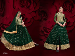 Black color Pure Georgette Fabric Full Sleeves Floor Length Centre Cut Indowestern style Suit
