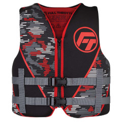 Full Throttle Youth Rapid-Dry Life Jacket - Red\/Black [142100-100-002-22]