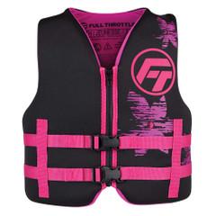Full Throttle Youth Rapid-Dry Life Jacket - Pink\/Black [142100-105-002-22]