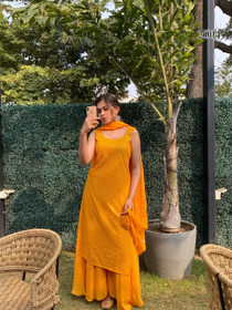 Yellow color Georgette Fabric Suit