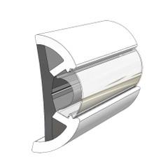 "TACO Large SuproFlex Rub Rail - 2.5"" x 1"" - Arctic White [V11-9970WHA100D]"