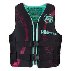 Full Throttle Adult Rapid-Dry Life Jacket - S\/M - Aqua\/Black [142100-505-030-22]