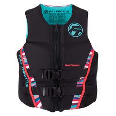 Full Throttle Womens Rapid-Dry Flex-Back Life Jacket - Womens XL - Pink\/Black [142500-105-850-22]