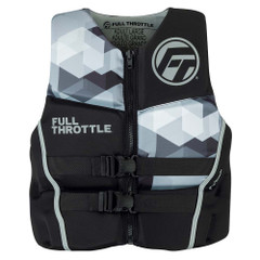 Full Throttle Mens Rapid-Dry Flex-Back Life Jacket - L - Black\/Grey [142500-701-040-22]