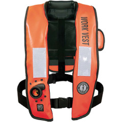 Mustang Inflatable Work Vest w\/HIT  Customizable Back Flap [MD3188GS]