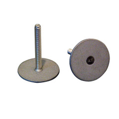 """Weld Mount Stainless Steel Stud 1.25"""" Base 10 x 24 Threads 1.00"""" Tall - 15 Quantity [102416]"""