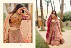 Copper and Maroon color Velvet Fabric Heavily Work Lehenga Choli