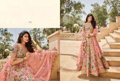 Light Pink color Tussar Silk Fabric Heavily Work Lehenga Choli