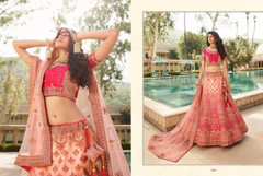 Magenta color Silk Fabric Heavily Work Lehenga Choli