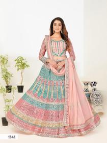 Pink color Georgette Fabric Lehenga Choli